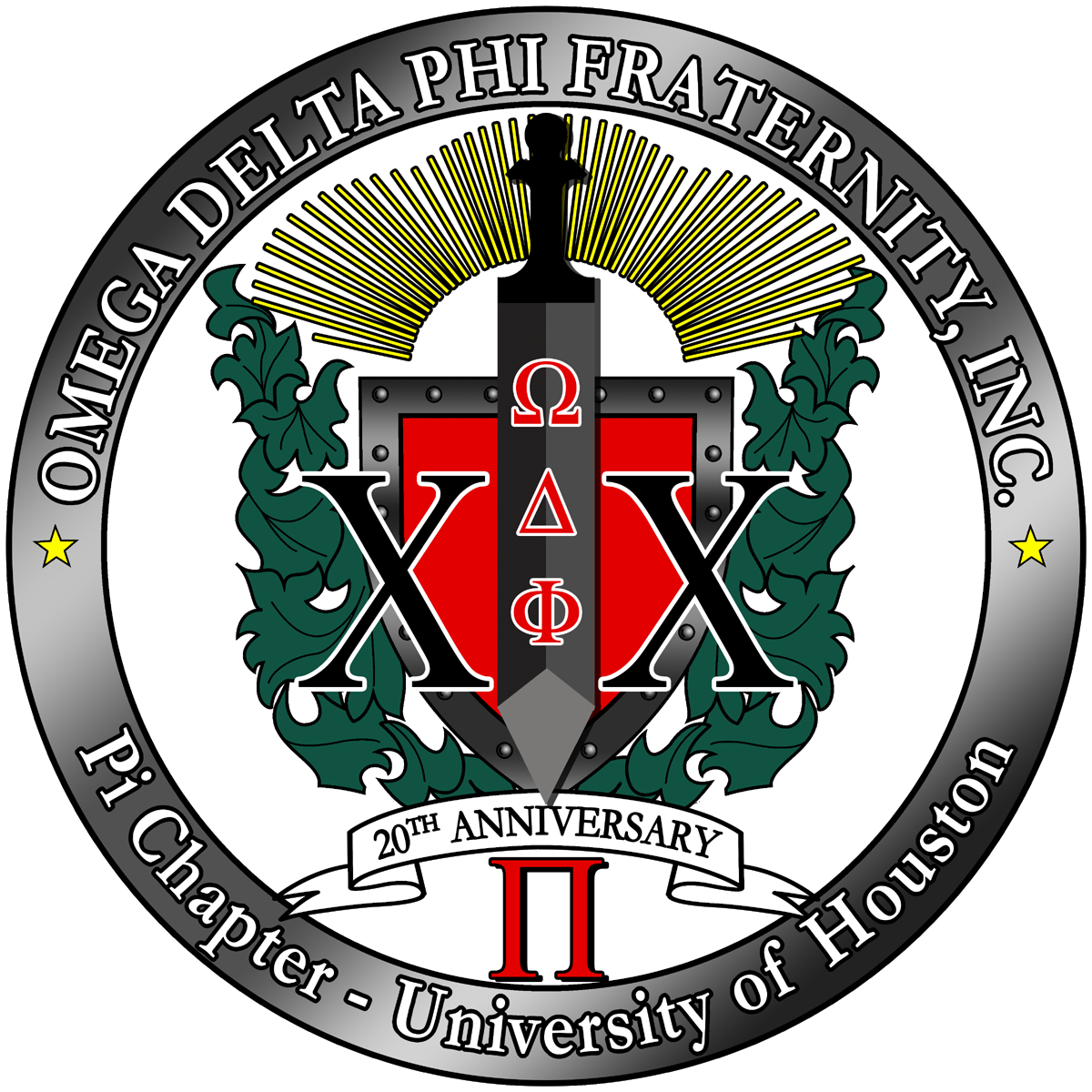 ODPhi Pi Chapter 20th Anniversary logo