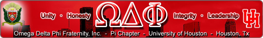 Omega Delta Phi at University of Houston